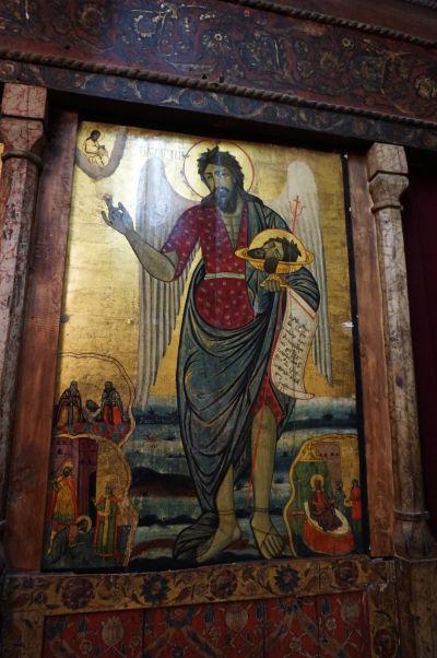 Ikona Jána Krstiteľa v Kostole sv. Štefana v Nesebare