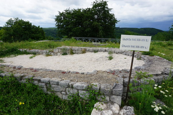 Ruiny kostola z 13. až 14. storočia v Šumenskej pevnosti