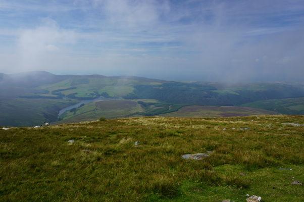 Výhľad zo Snaefellu - najvyššej hory ostrova Man