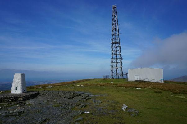 Vrchol Snaefellu - najvyššej hory ostrova Man