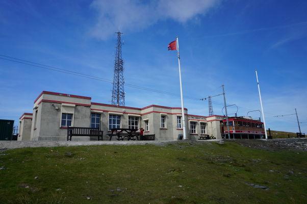 Železničná stanica na vrchole Snaefellu, najvyššej hory ostrova Man