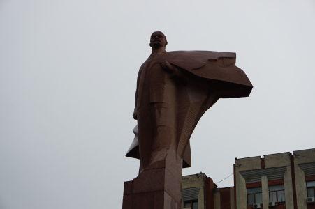 Lenin hľadiaci v ústrety svetlým zajtrajškom