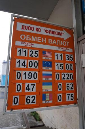 Zmenární je v Podnestersku dostatok, zahraničné valuty sú cenené