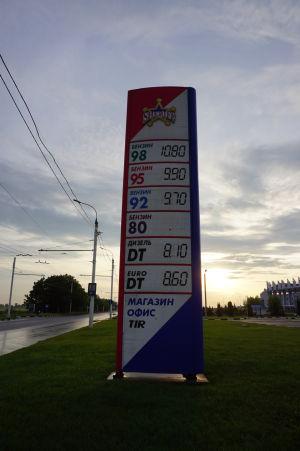 Benzín v Podnestersku je o takmer polovicu lacnejší než u nás