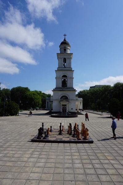 Zvonica Kišiňovskej katedrály a... šachy