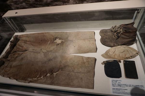 Oblečenie jednej z obetí atómového útoku na Hirošimu - Múzeum mierového memoriálu v Hirošime