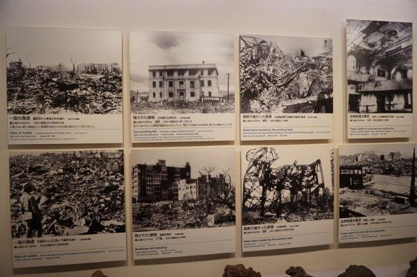 Fotografie Hirošimy po atómovom útoku - Múzeum mierového memoriálu v Hirošime