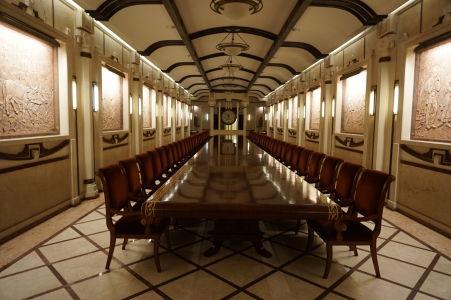 Prezidentská sála, v ktorej prebiehajú ochutnávky vína