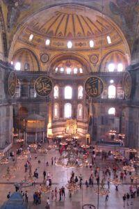 Hagia Sophia - Obrovský priestor bez podporných stĺpov