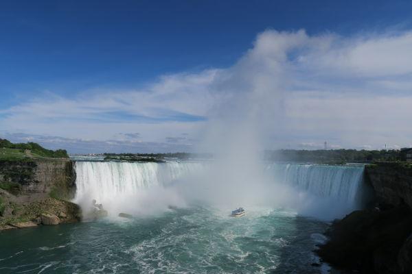 Vodopád Podkova (Horseshoe Falls), najznámejší z Niagarských vodopádov - pohľad z kanadskej strany