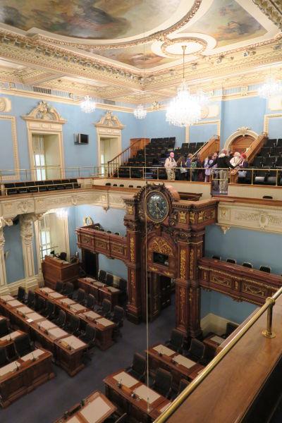 Dolná komora parlamentu v Québecu (Národné zhromaždenie - Salle Assembleé Nationale)