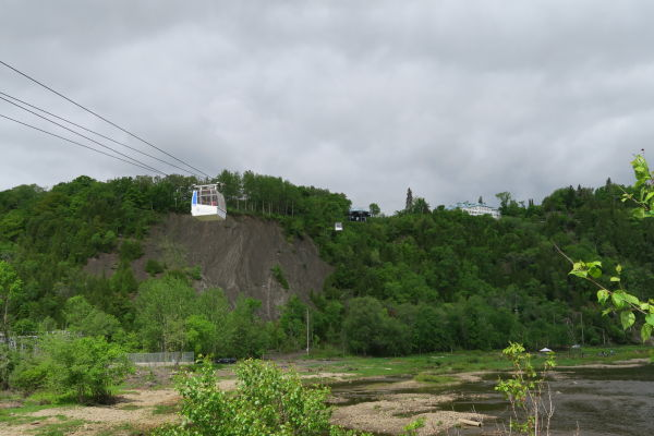 Lanovka k vodopádu Montmorency neďaleko Québecu