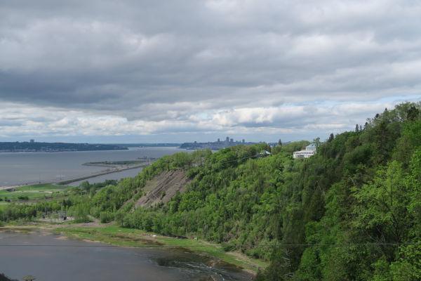 Výhľad na Québec od vodopádu Montmorency