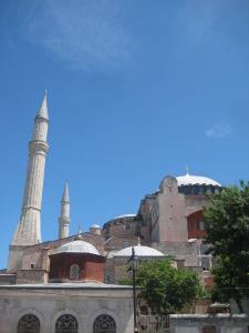 Hagia Sophia - Minarety pridané v dobe, keď slúžila ako mešita