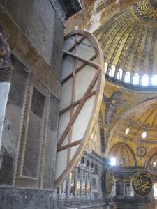 Hagia Sophia - Detail moslimského štítu zozadu