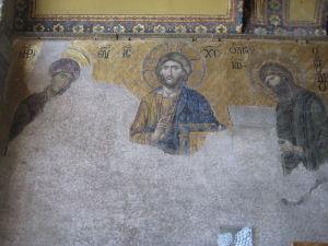 Hagia Sophia - Kresťanská mozaika