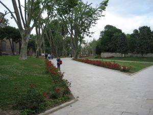 Palác Topkapı - Priľahlý park