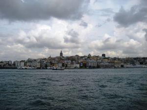 Štvrť Galata z trajektu