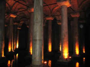 Podzemná rímska cisterna v Istanbule