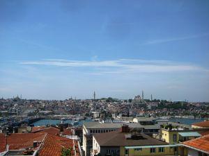 Pohľad z terasy na Galate - Oproti historická štvrť Sultanahmet