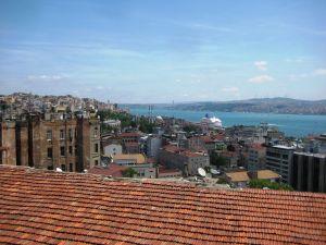 Pohľad z terasy na Galate - Na druhej strane Bosporu ázijská časť mesta