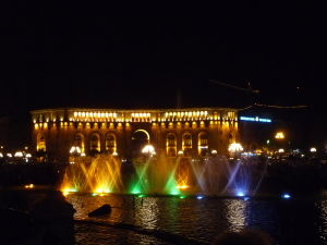 Námestie republiky - Hrajúca fontána