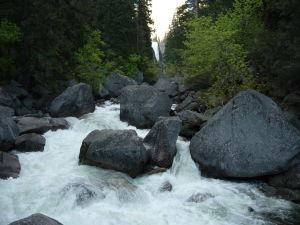 Národný park Yosemite - cesta k vodopádu Vernal Fall