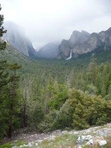 Národný park Yosemite - vyhliadka Tunnel View