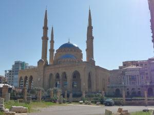 Mešita Mohameda Al-Amína spolu s Maronitskou katedrálou
