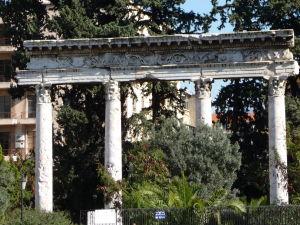 Rímske ruiny kúsok od Národného múzea v Bejrúte