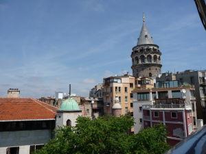 Pohľad z terasy na Galate - Veža Galata