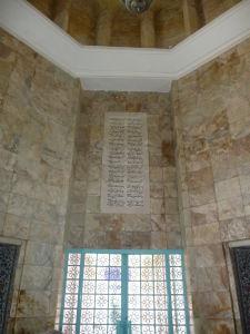 Verše básnika Saadiho na stene jeho mauzólea