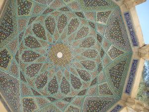 Baldachýn nad hrobom básnika Hafeza