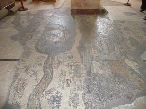 Chrám sv. Juraja v Madabe - byzantská mozaika s mapou Svätej zeme