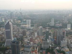 Menara KL - Pohľad na mesto