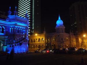 Večer na námestí Merdeka