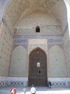 Vnútro mešity Bibi Chanym