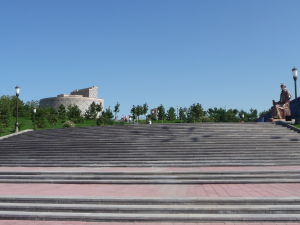 Schodisko vedúce k Ulugbekovmu observatóriu