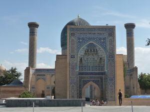 Fasáda mauzólea s hrobkami Timúrskej dynastie
