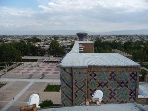 Výhľad na námestie Redžistan