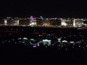 Pohľad na Biele mesto v noci