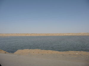 Jazero v púšti