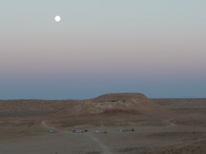 Spln nad táborom v púšti