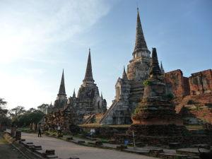 Stupy (chedi) chrámu Wat Phra Si Sanphet