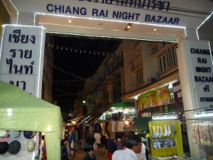 Nočný trh v Chiang Rai
