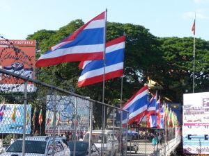Thajsko-barmská hranica - prvá polovica mostu je v Thajsku, tá druhá už v Barme