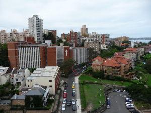 Pohľad na severnú stranu mesta, kúsok od komerčného obvodu CBD