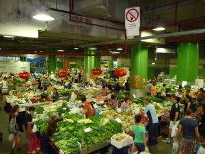Tržnica v Čínskom meste
