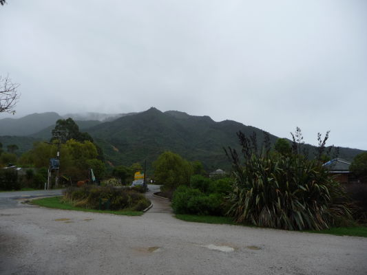 Vstupná cestička k národnému parku Abela Tasmana na Novom Zélande