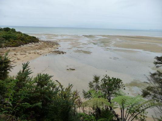 Abel Tasman NP - Pláž pri vstupe do národného parku